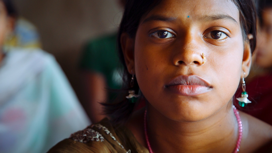 A young Indian girl from the Sundarban Islands