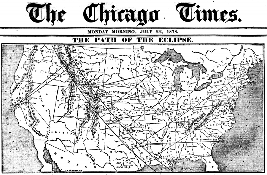 Archival image, Chicago Times, July 22, 1878
