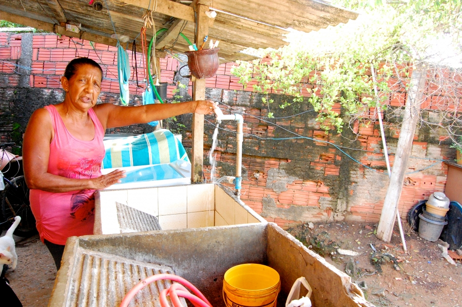 Elsa Barbosa, a resident of the small city of Itu, near São Paulo, which was hit by a water crisis last year. Barbosa says she and others had to resort to using water from an old, disused well, which made people sick even after they boiled it.