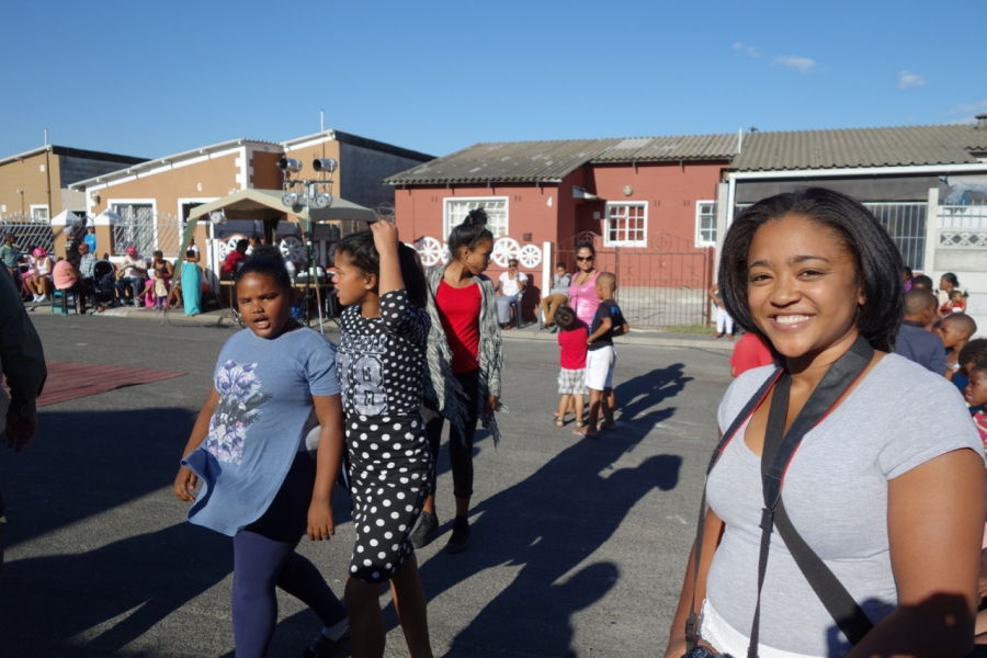Chantay Hayes, in Elsie's River, one of the Cape Flats communities outside Cape Town in South Africa