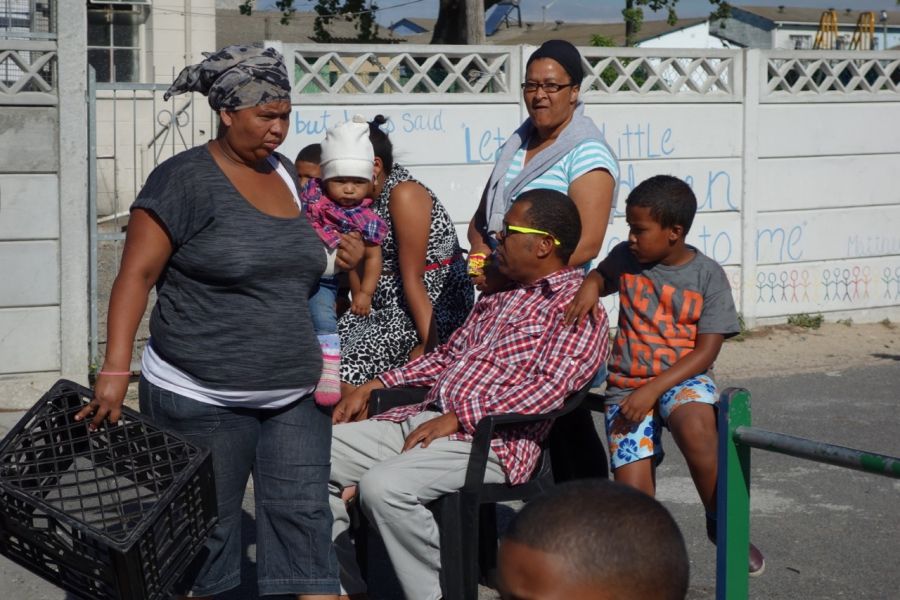 Scene in Elsie's River, one of the Cape Flats communities on the outskirts of Cape Town, South Africa