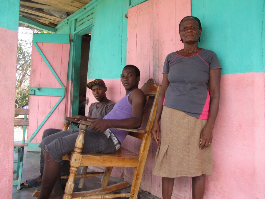 Hurricane Matthew survivors in Port Salut, Haiti