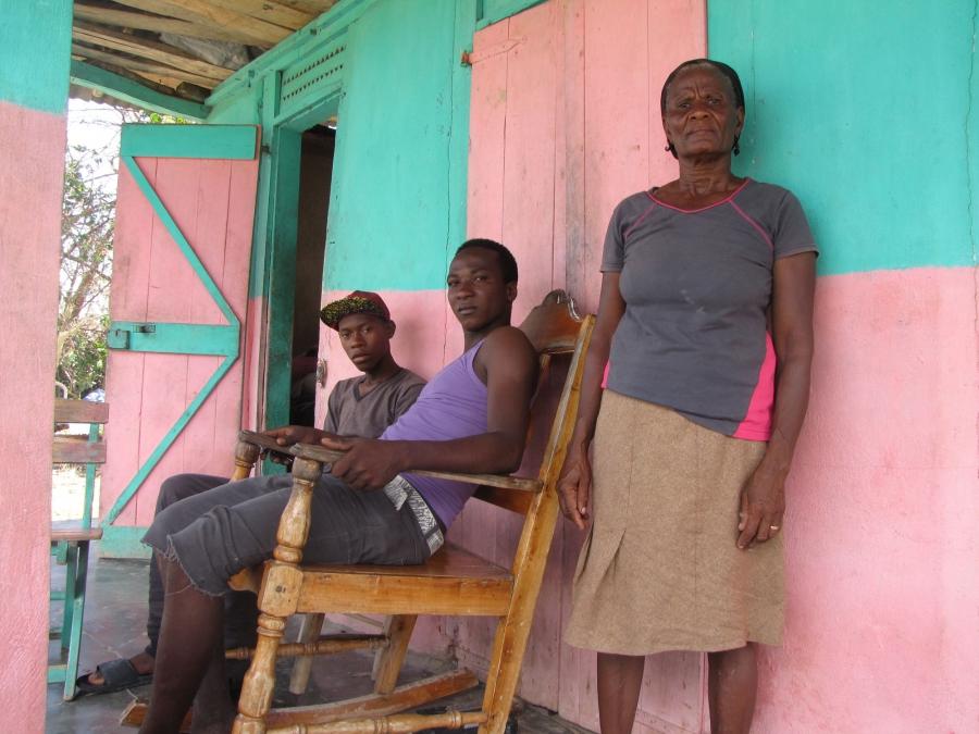 Hurricane Matthew survivors in Port Salut, Haiti