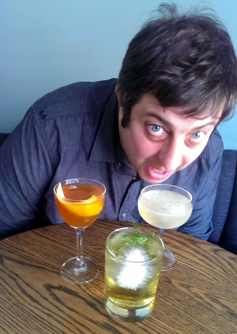 Stand-up comedian and cocktail taster Eugene Mirman
