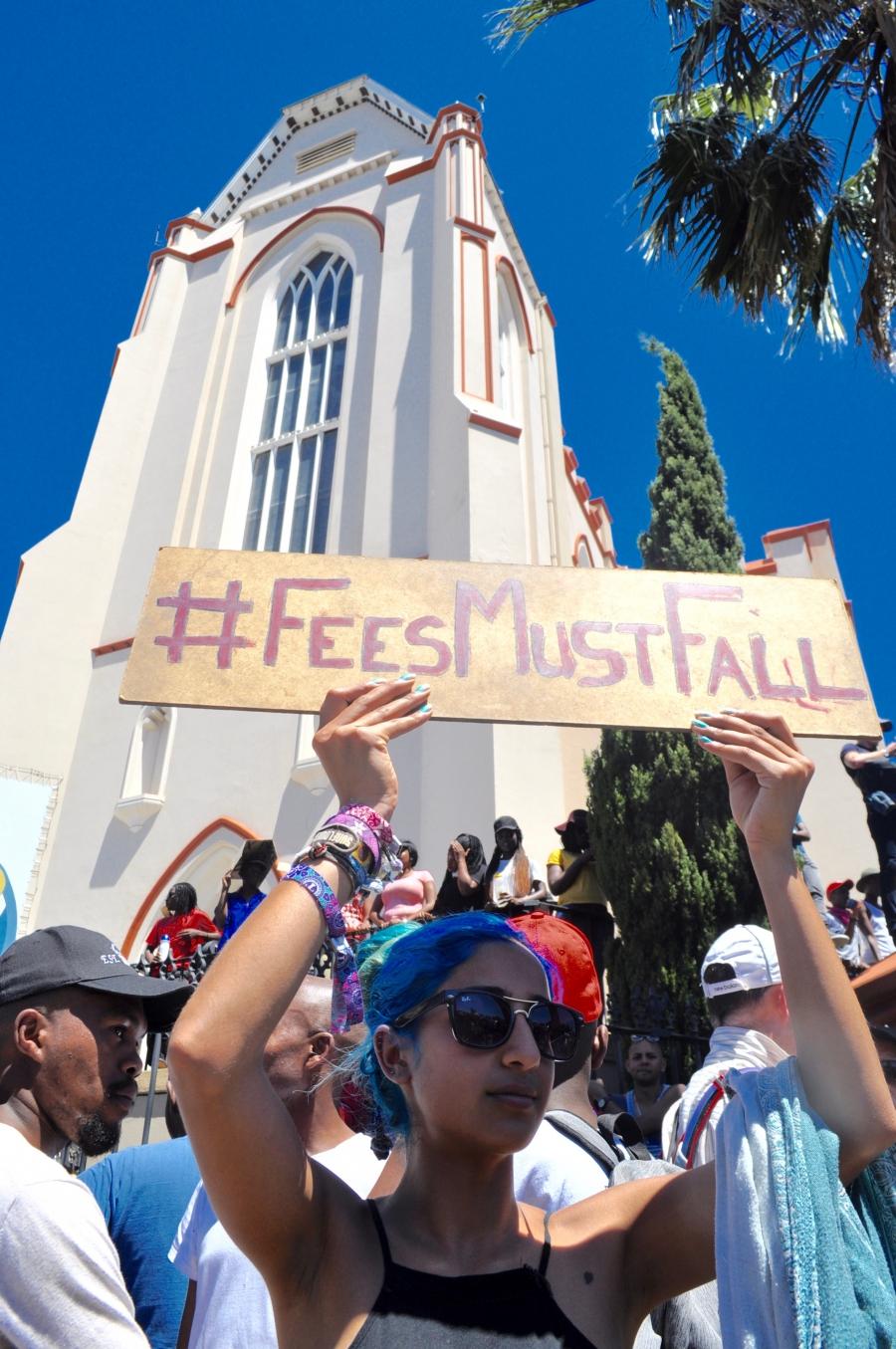Student protestor in Cape Town