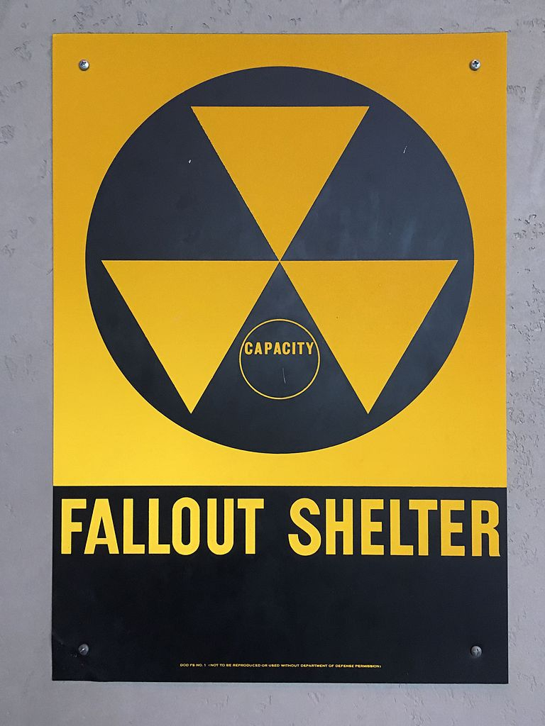 The nuclear fallout shelter sign