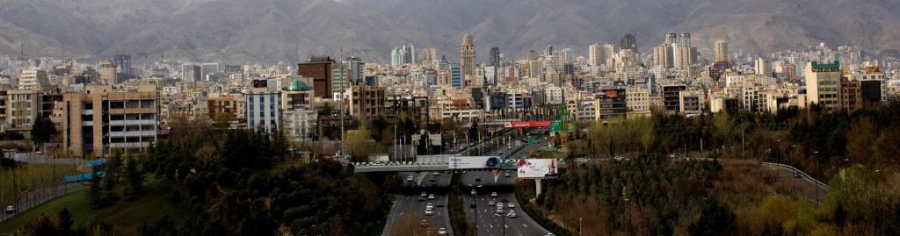 A general view of northern Tehran taken on March 25, 2015.