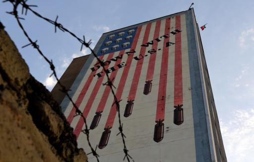 An anti-US mural on a wall of a building in Tehran.