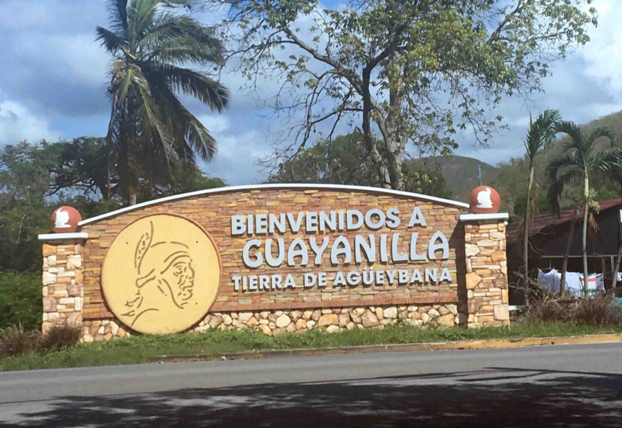 A sign for the town of Guayanilla, Puerto Rico