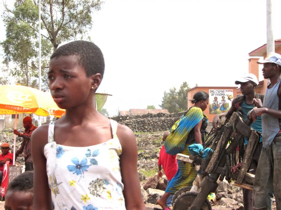 Street scene in Goma, the Democratic Republic of Congo
