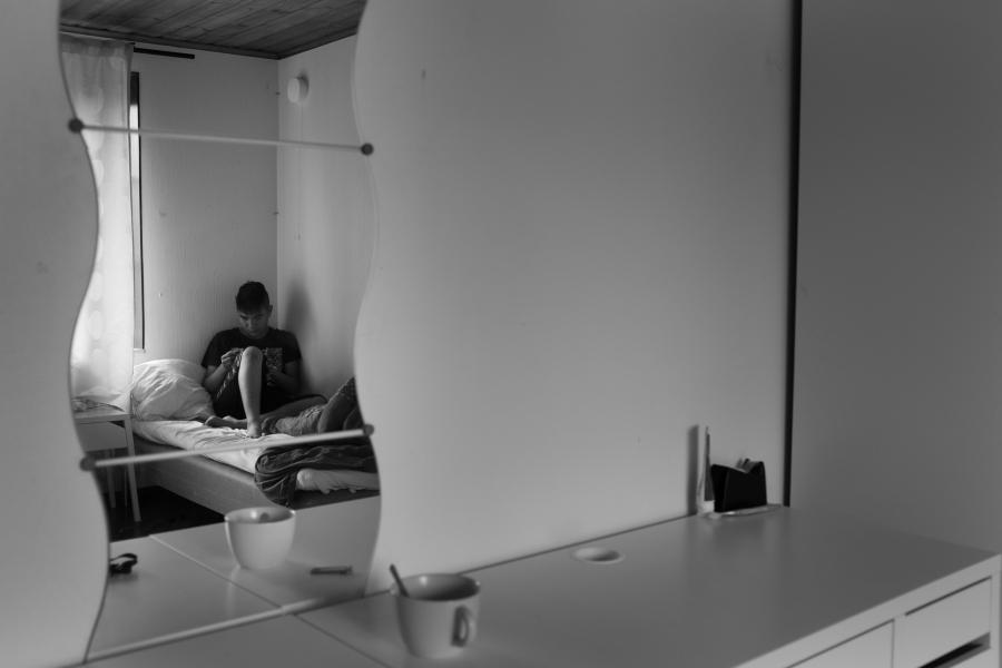 Mahdi in his new room
