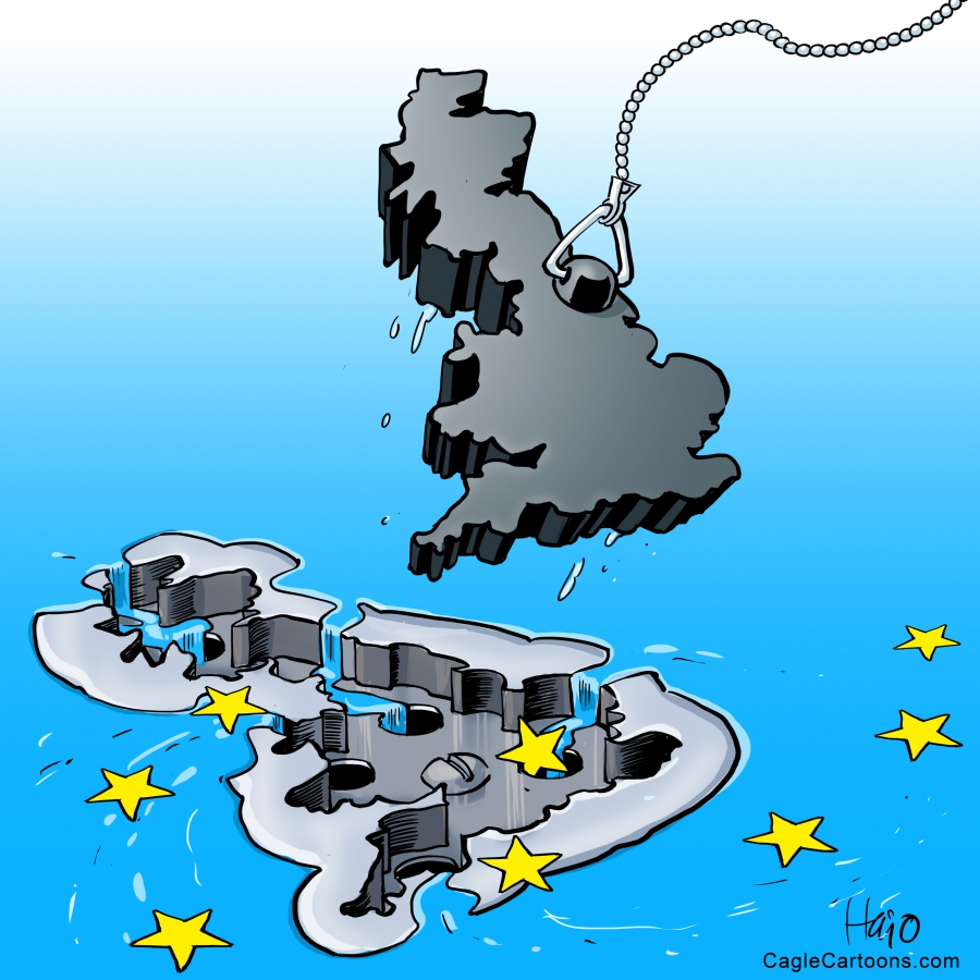 Britain pulls the plug on the EU and the whole EU may go down the drain as a result