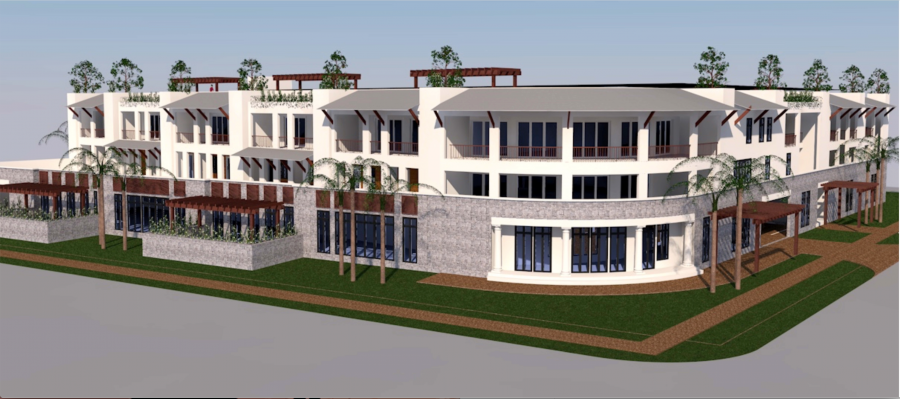 Designers say the new Satellite Beach hotel will have a low carbon footprint, be extremely energy efficient, and be able to withstand the increasingly harsh storms and floods that climate change is bringing to the region.