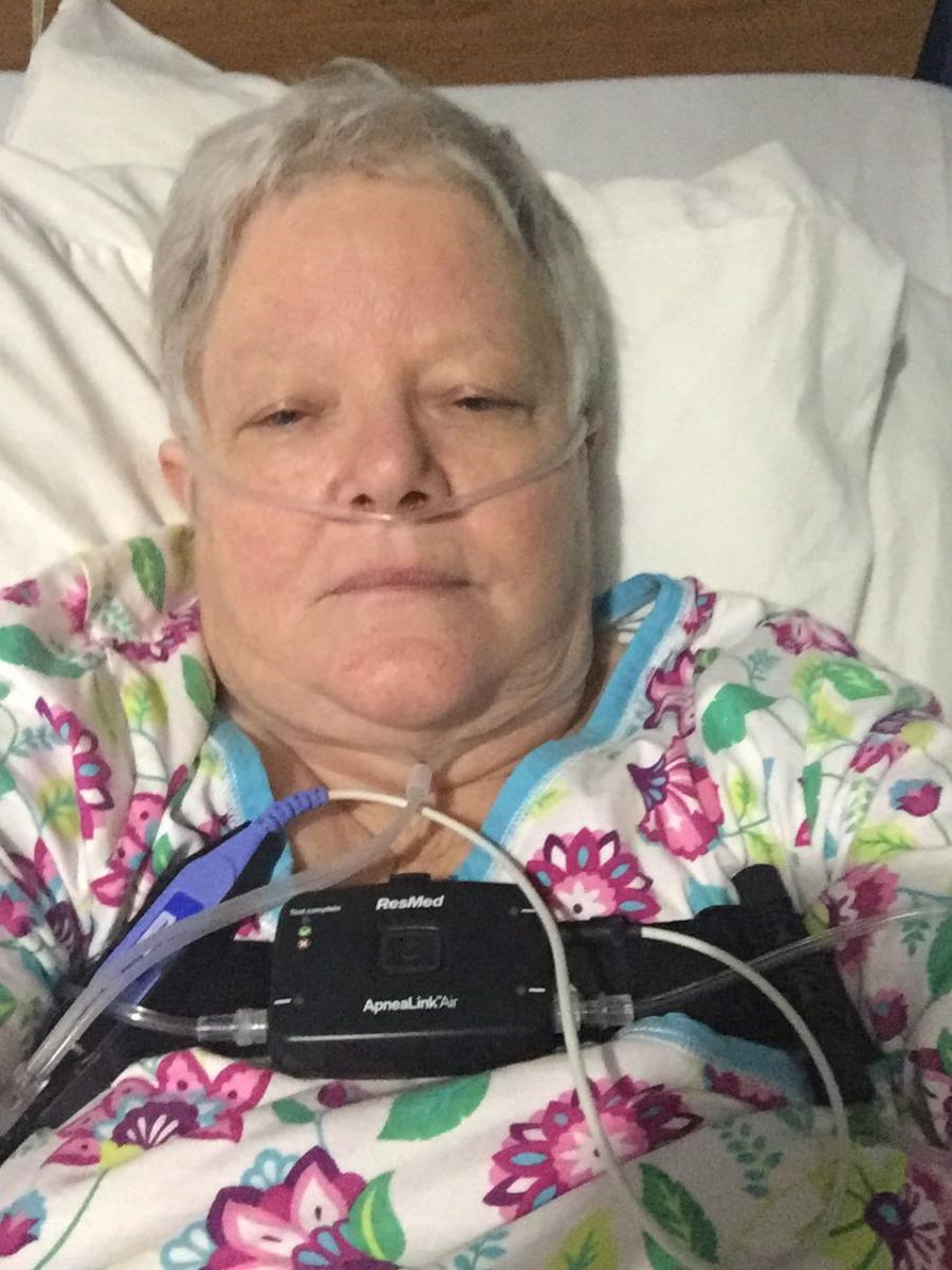 Nancy Bailey in hospital