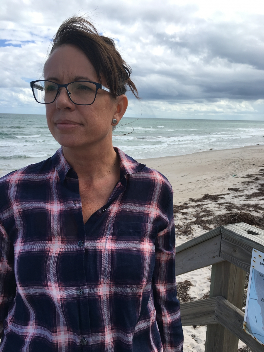 """Satellite beach city manager Courtney Barker has seen climate change start to reshape her city's shoreline. Under her leadership the city has developed a plan to respond to rising water. """"Planning is so less expensive than reacting,"""" Barker says."""