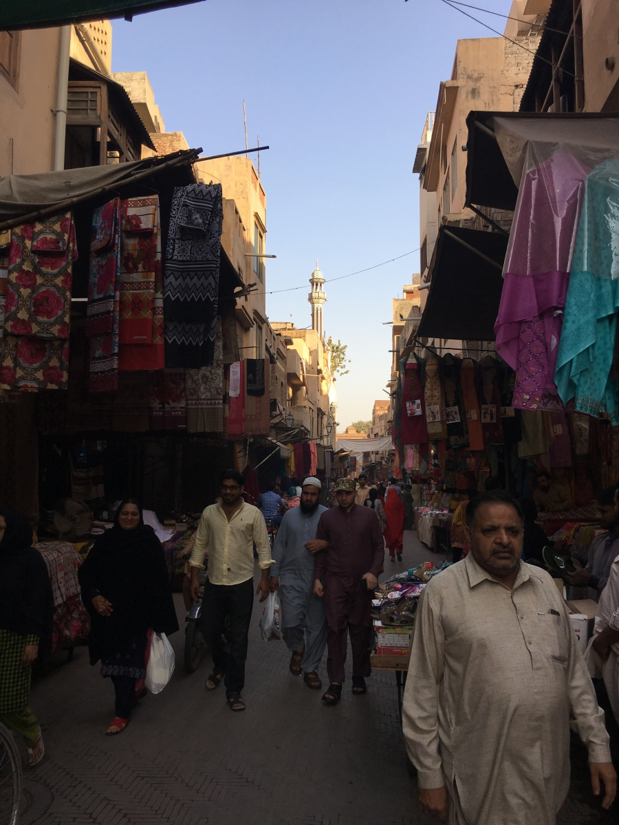 The bustle inside Delhi Gate, one of the nine gates traditionally used for entry into the old, walled city of Lahore.