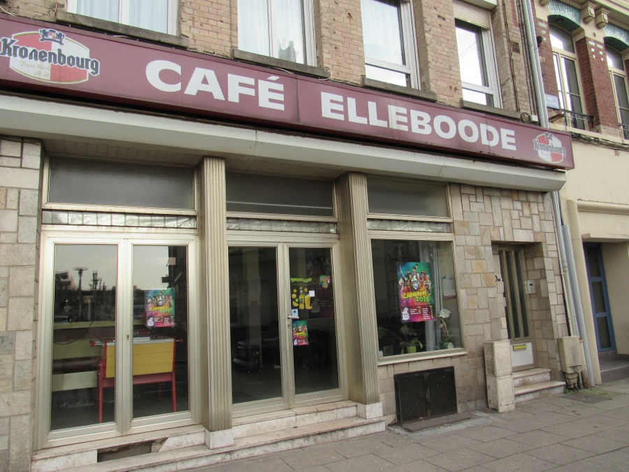 Café Elleboode in Dunkirk, France, which some town residents have nicknamed 'the migrants café.'