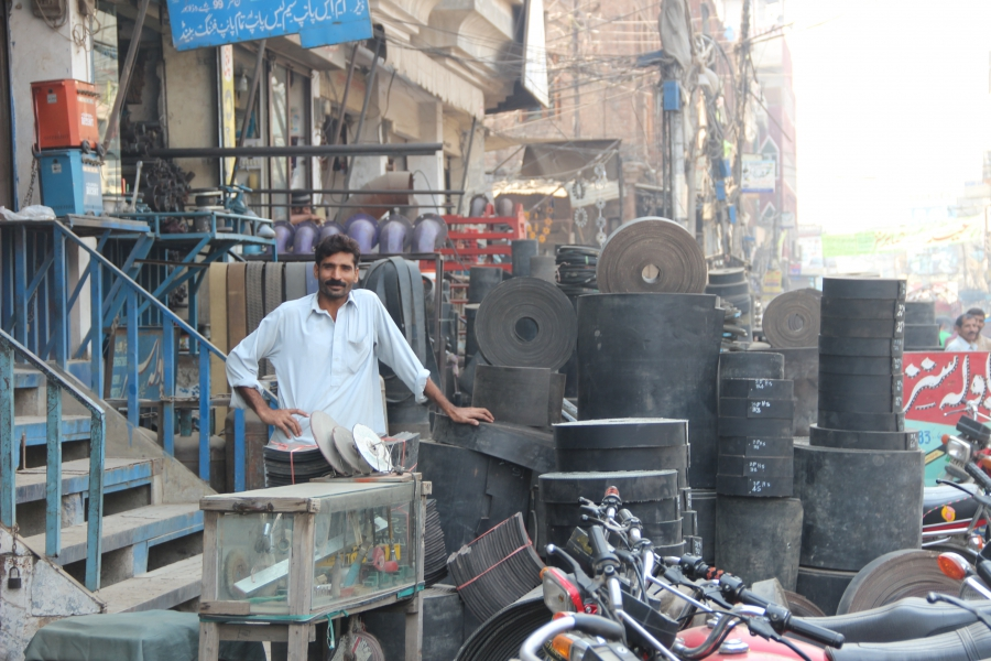 Women are often treated disrespectfully while shopping on Brandreth Road in Lahore.