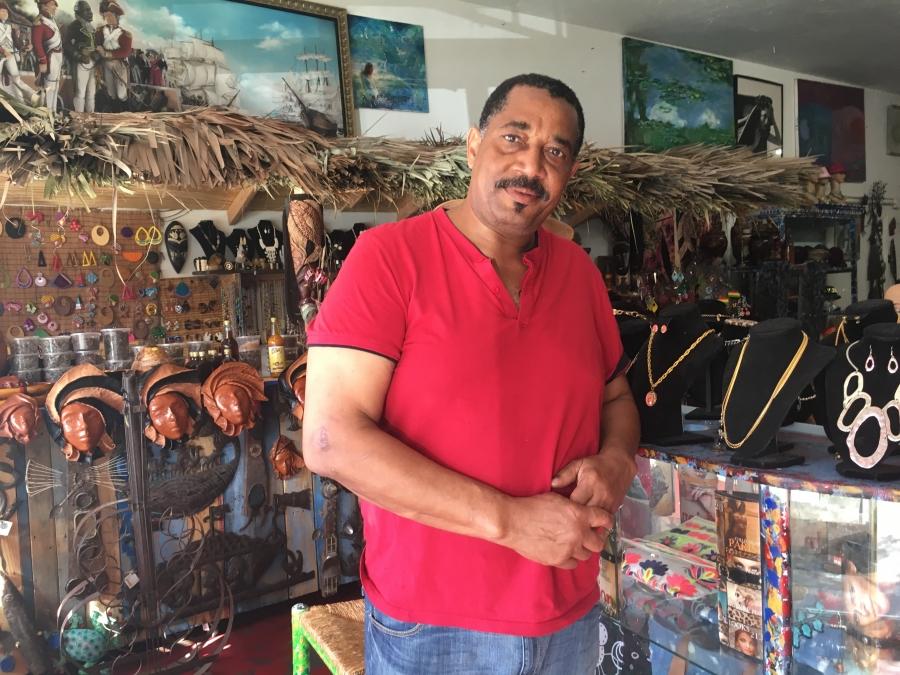 Schiller Sanon-Jules stands in a shop
