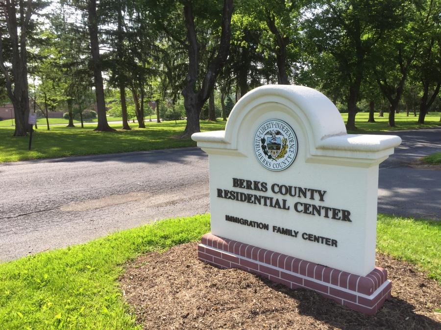 The sign outside Berks County Residential Center