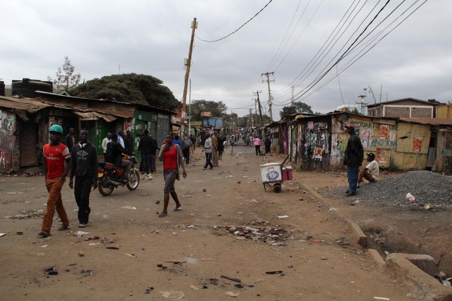 A street in Kibera