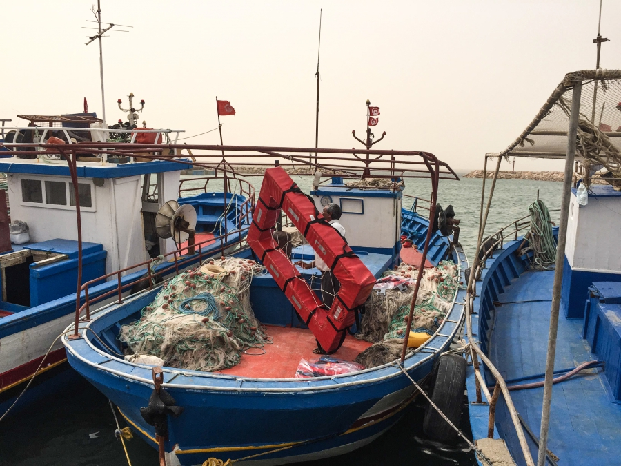 In addition to life jackets, MSF also provides one rescue raft to every fishing boat.