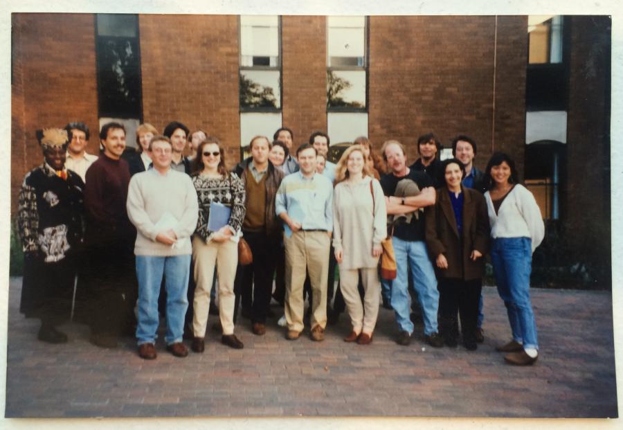 The original team of PRI's The World, in the UK.