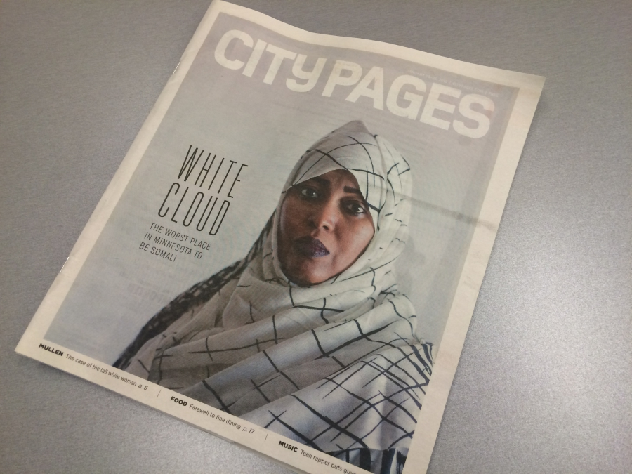 Susan Du's cover story for City Pages features a Somali woman
