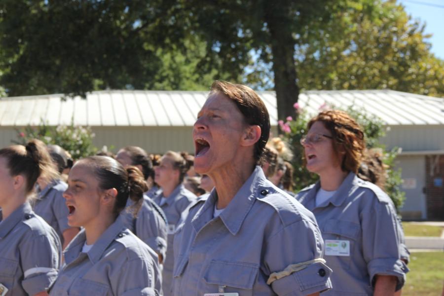 Women at a prison