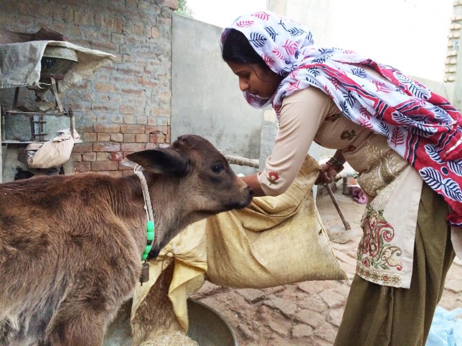 Sreeja Singh Berwal w/goat