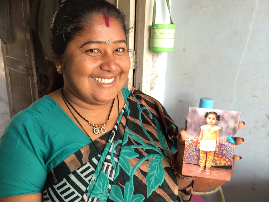 riya Kumar's only child, Kartika, is nine now.