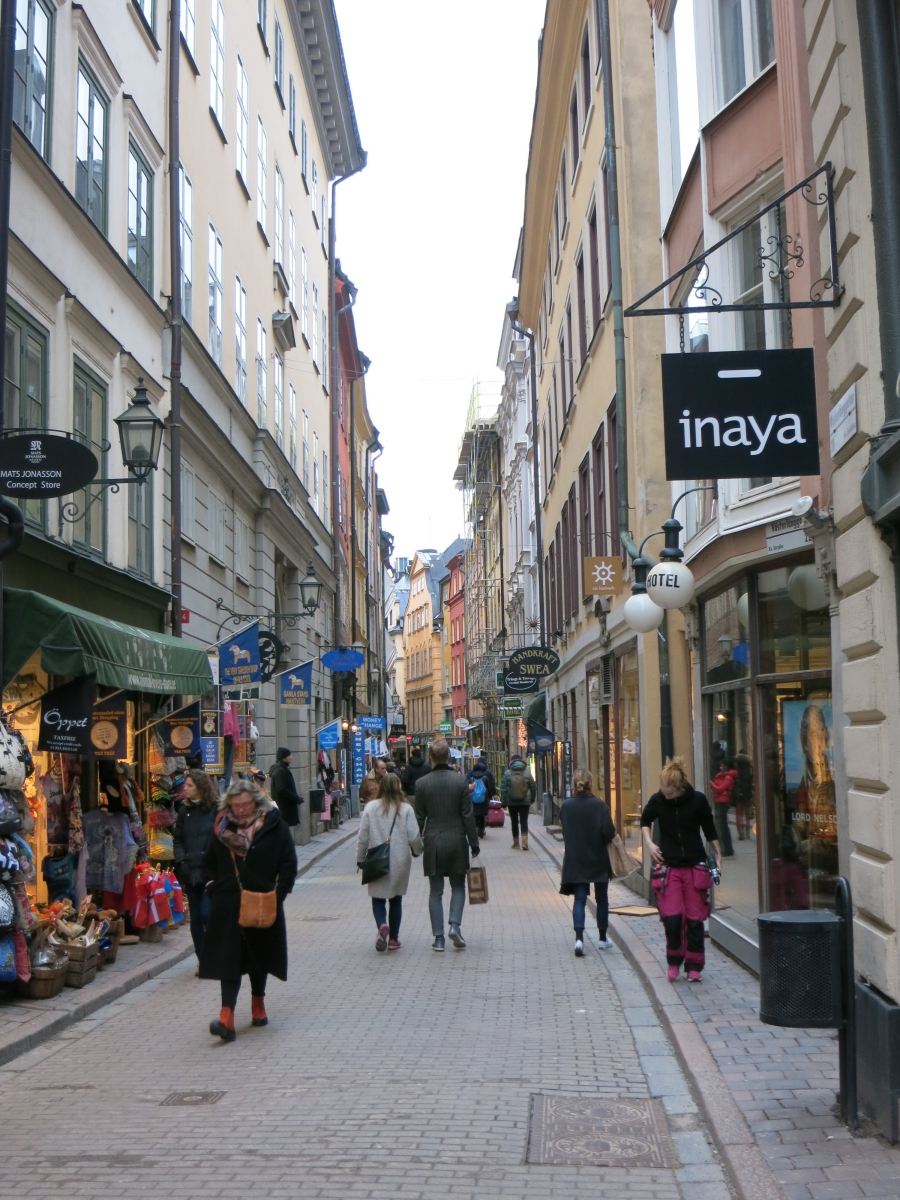 Stockholm's historic core, the island of Gamla Stan, isn't entirely vehicle free, but it comes close.