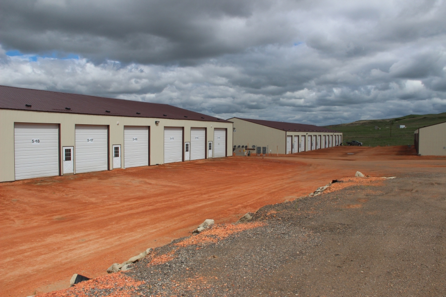 The outdoor RV park in Watford City can hold 160 RVs inside its units, which include water, electricity and sewage.
