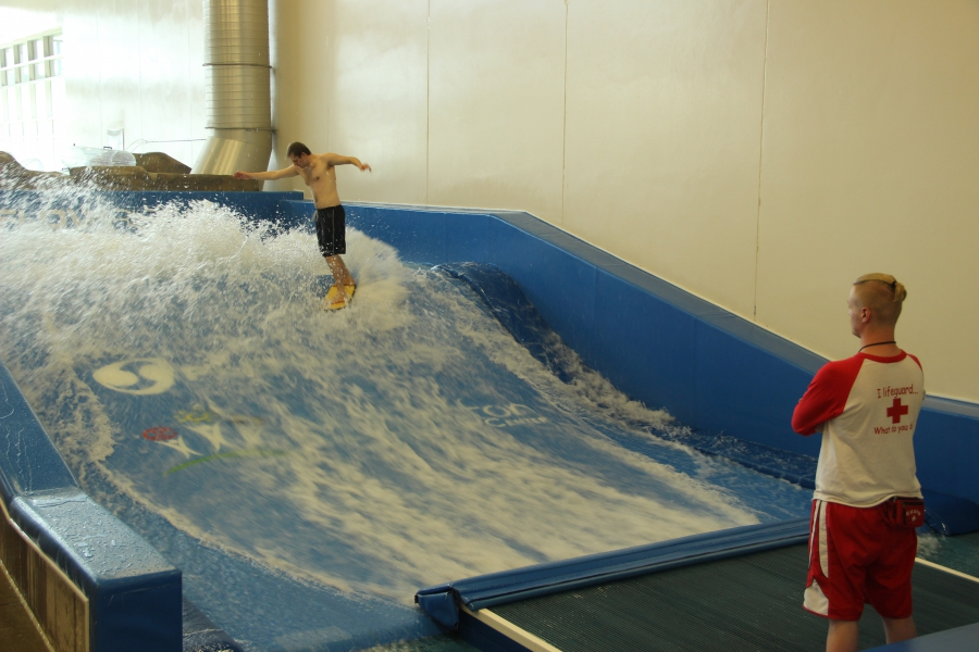 Indoor surfing at the $70 million Williston area Recreation Center, touted as the largest city-owned rec center in the country. It opened in 2014.