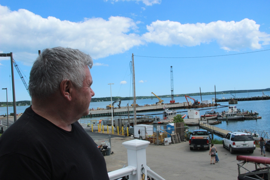 Ship pilot Bob Peacock guides vessels into the port of Eastport. His business was hurt when the shipment of cows to Turkey stopped in 2014.