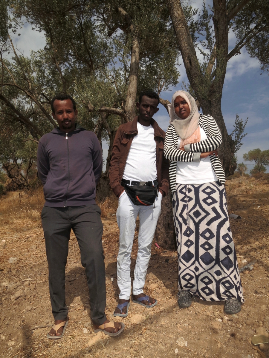 Somali journalists Moria refugee camp