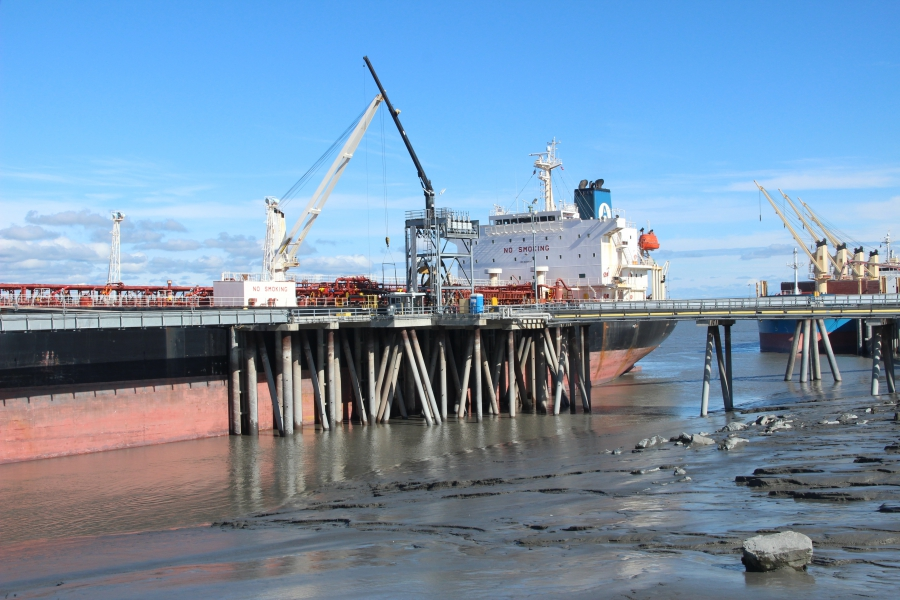 Anchorage has the second-highest tides in the world, only behind the Bay of Fundy in Nova Scotia, Canada. Note: The Port of Avonmouth's tides (Bristol, England) sometimes exceed Anchorage.