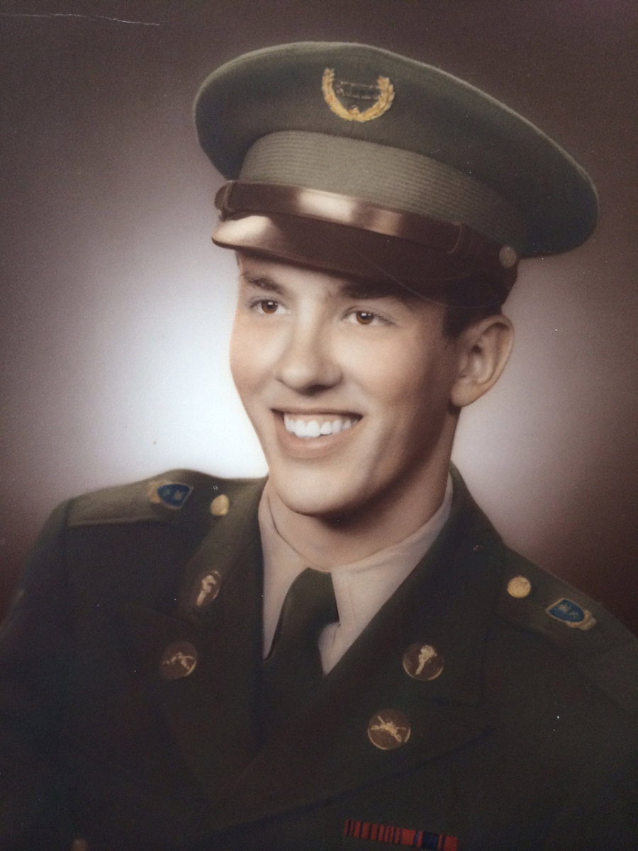 Max Copeland in the 1950s when he was a student at Oklahoma military academy.