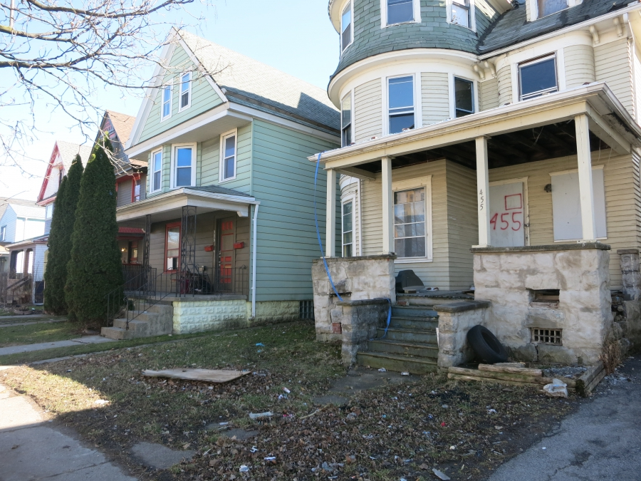 Many of the homes in Buffalo's lower east side are badly in need of repair and upgrades.