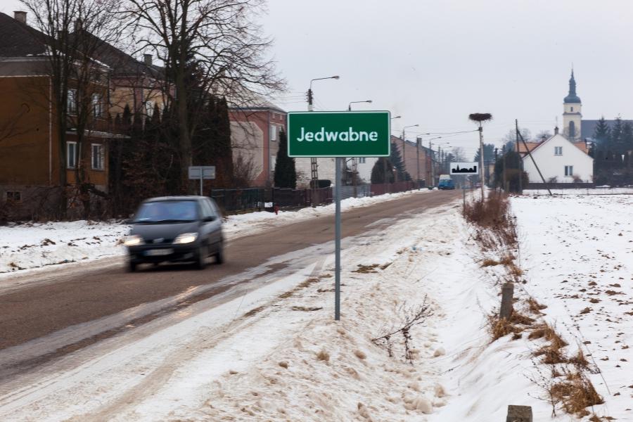 entrance to Jedwabne
