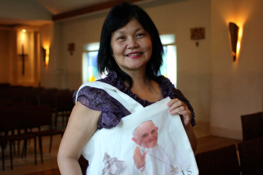 Gina de Guzman is a conservative Catholic who hopes that Pope Francis's visit will inspire Filipinos to live more closely to the teachings of the Bible.