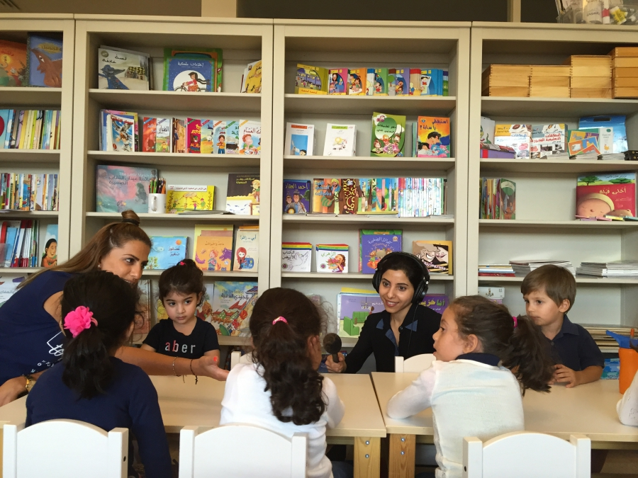 Toddlers at an Arabic class at the Iqra'a Arabic Language Center in Dubai.