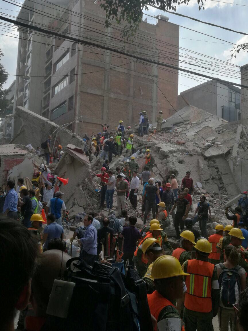 The home of Wesley Bocxe was destroyed in the Mexico City earthquake on Sept. 19.