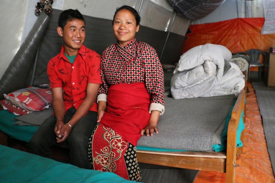 20-year-old Junu Syangtan and her husband Buddha Syangtan, 21.