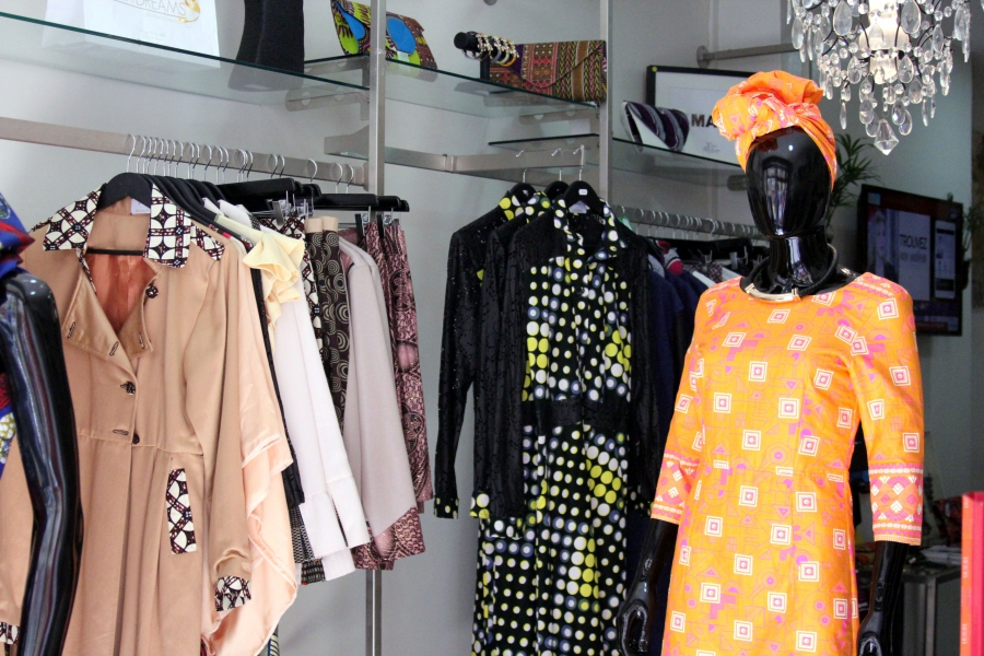 Khady Sy Savane started out by selling her designs to friends at small events in her apartment.