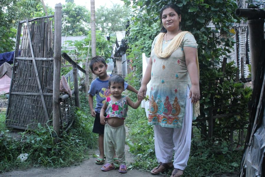 Sita Adhikari and kids