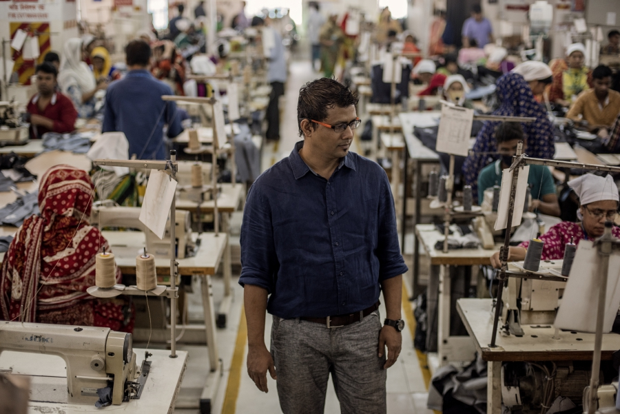 Manager Adrian Rodriguez oversees a factory of 800 garment workers.