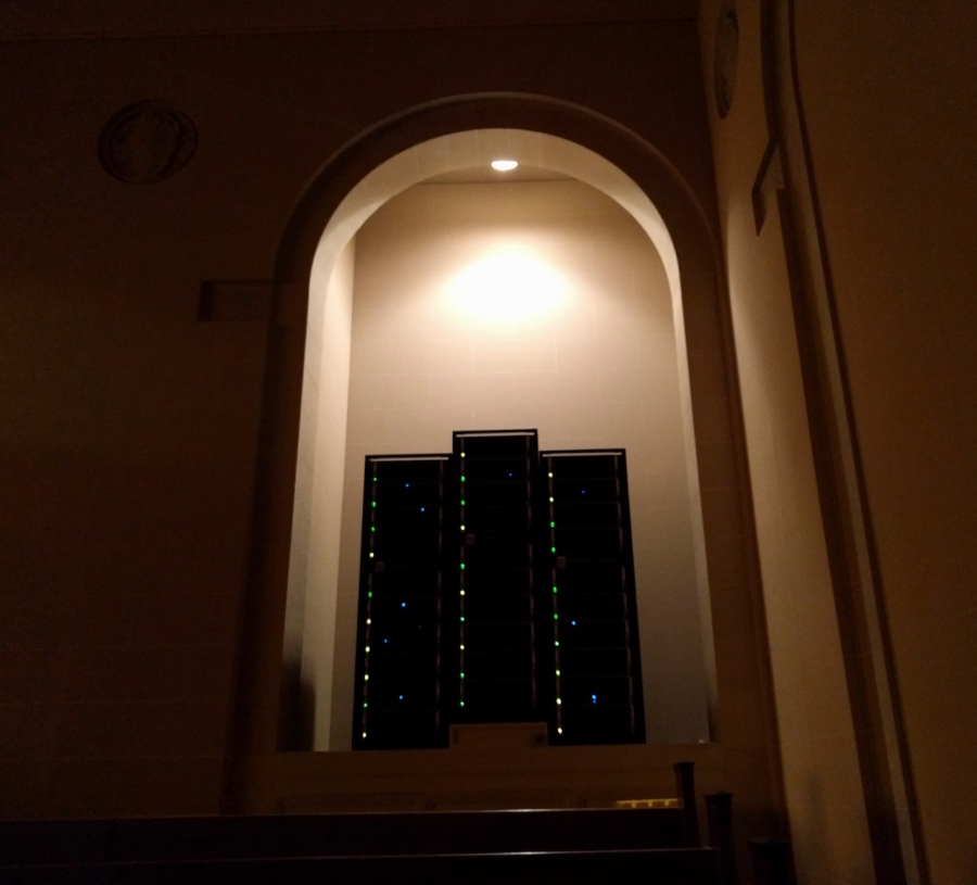 Internet Archive server in its headquarters, in a former church in San Francisco