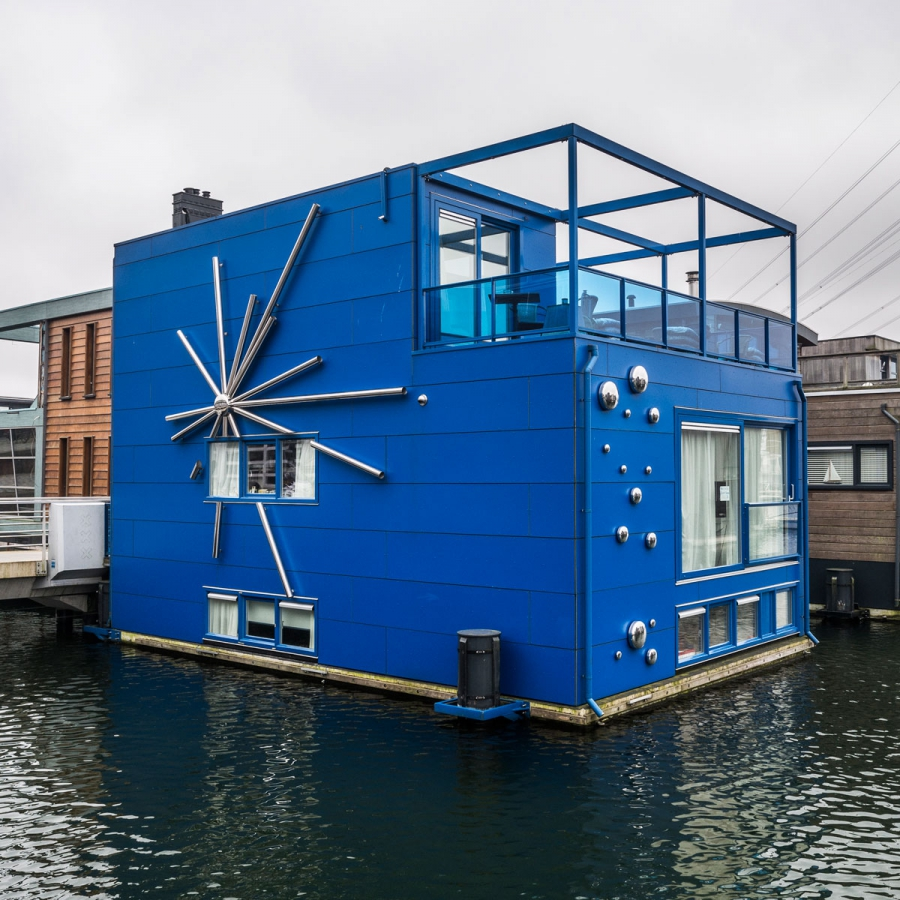 IJburg, a neighborhood of floating houses on the eastern edge of Amsterdam.