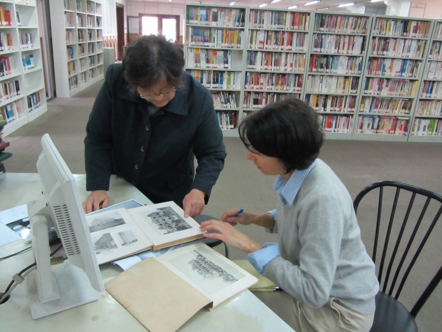 "Jennifer Lin researching her book ""Shanghai Faithful,"" at the McTyeire School in Shanghai, which her Chinese grandmother attended"